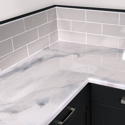 Carrara White Marble Epoxy Countertop Kit